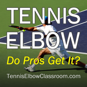 Photo: Pro Playing Tennis - Do They Get Tennis Elbow?